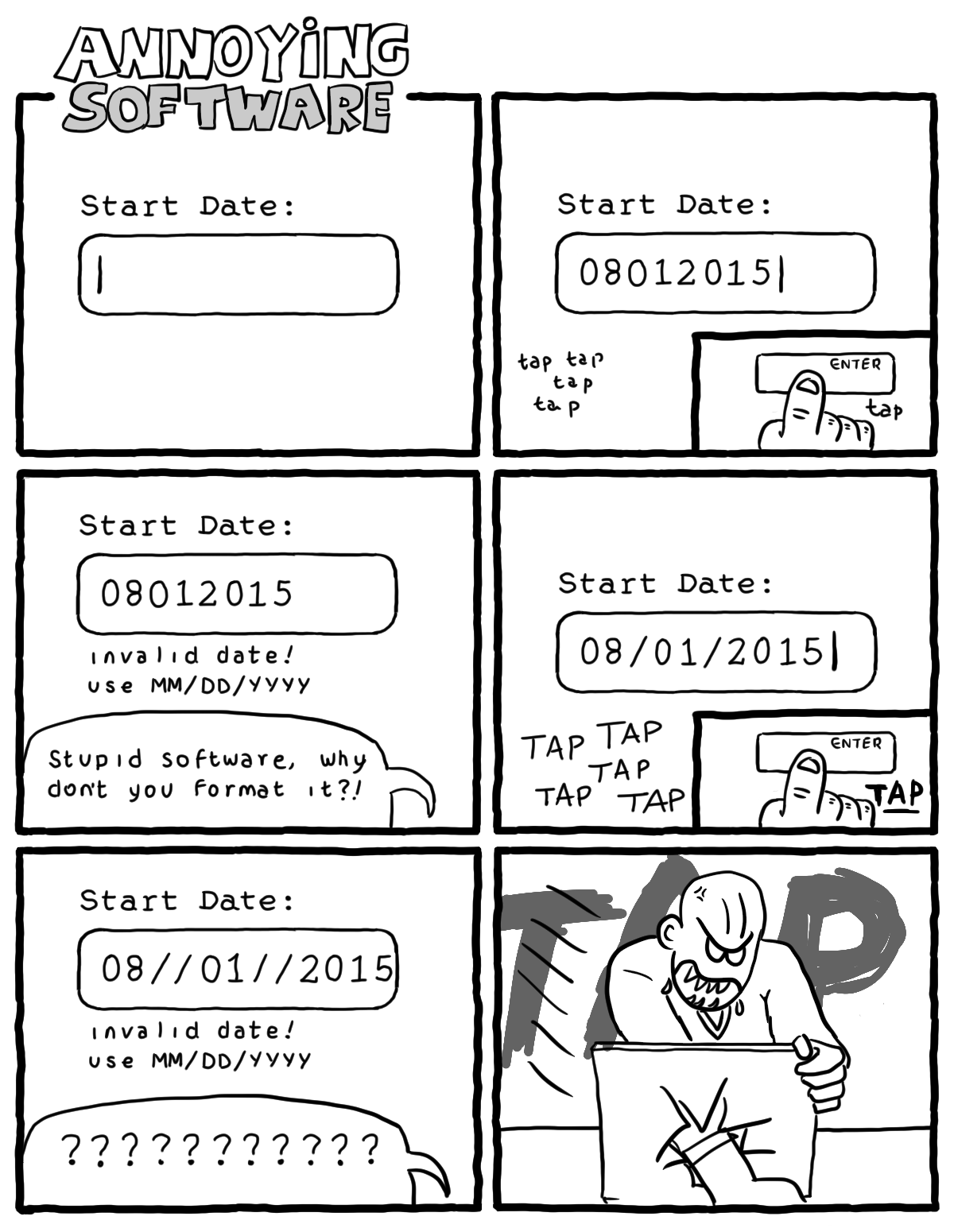 annoying software 3 - the date situation geek comic