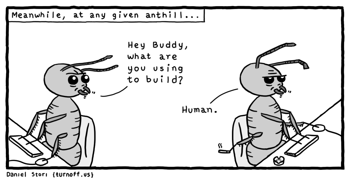 coding from anthill geek comic