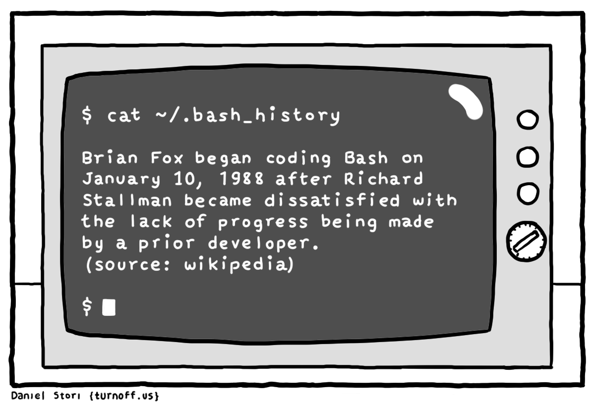 bash history geek comic