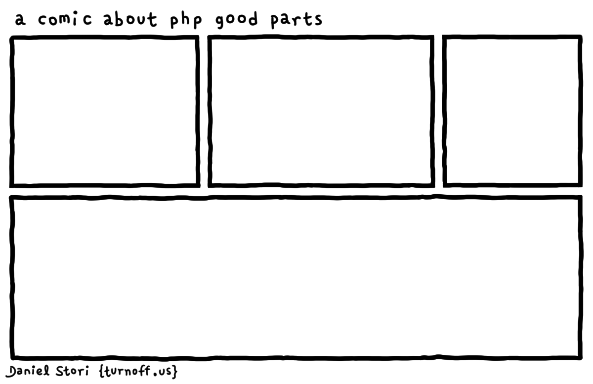 a comic about php good parts