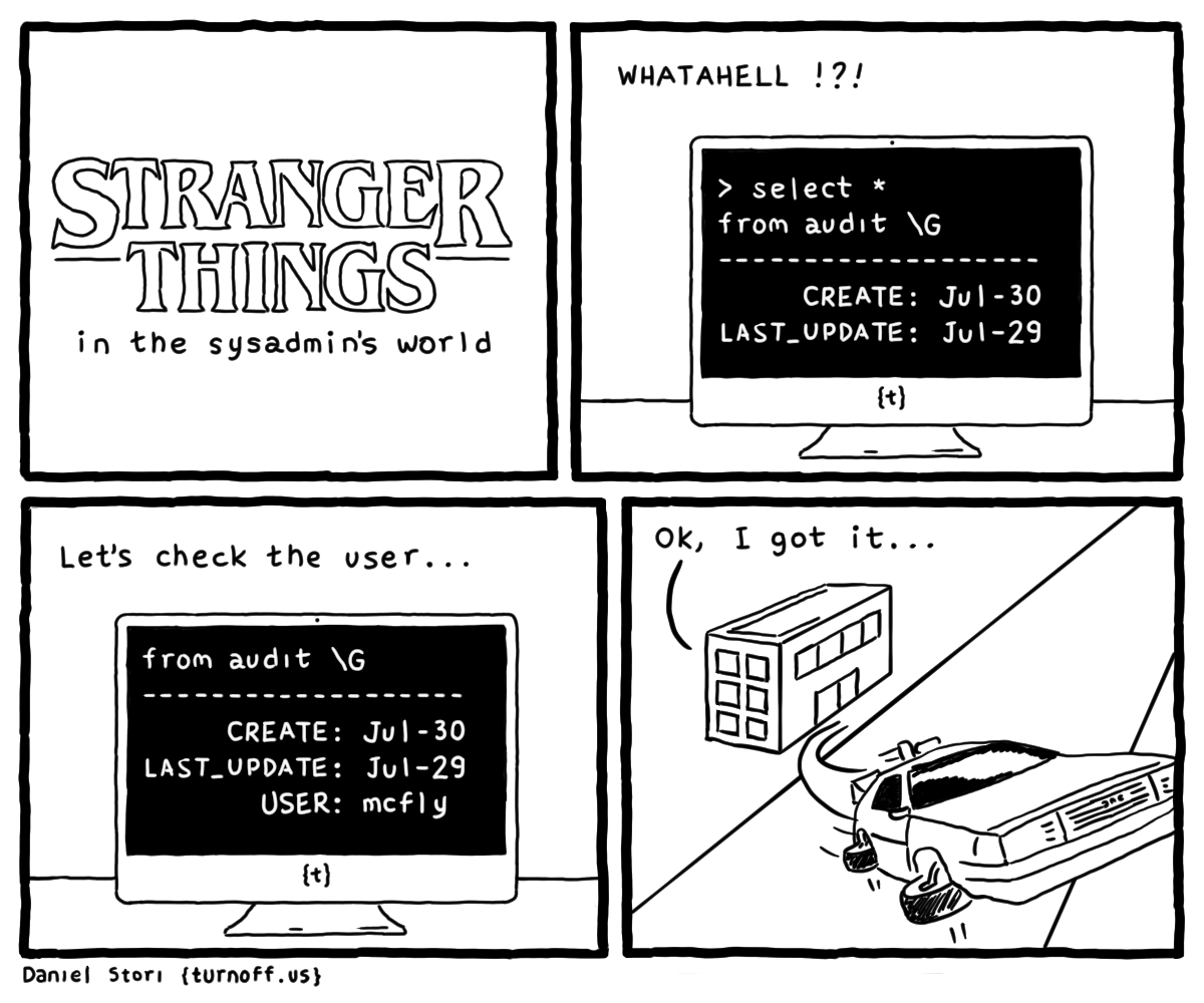 stranger things - in the sysadmin's world geek comic