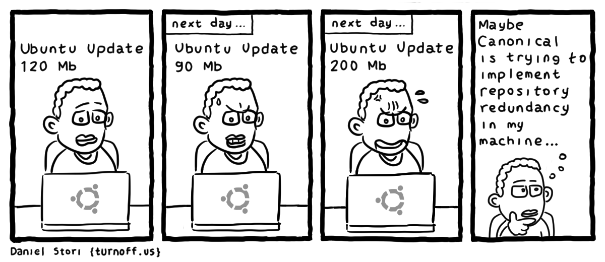 ubuntu updates geek comic